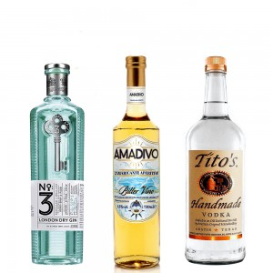 Kit Vesper Martini con Gin no 3 Amadivo e Tito's Vodka